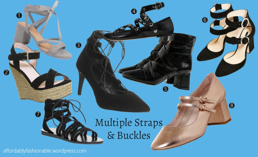 affordably fashionable by rachel oates multiple straps and buckles shoe trends 2016