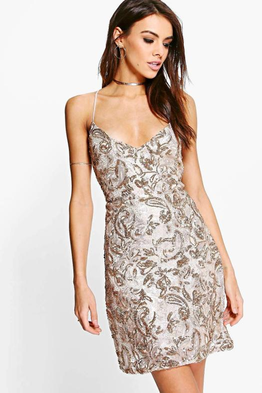 affordably-fashionable-gold-sparkly-dress