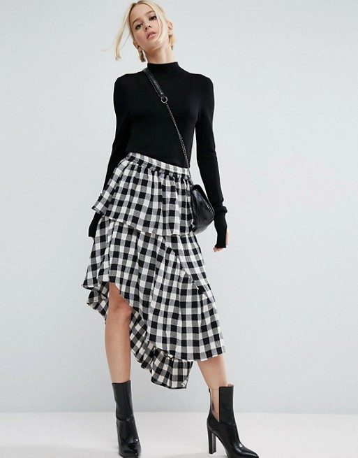 gingham-skirt-asos-affordably-fashionable